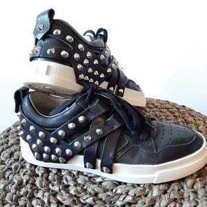 ASH EXTRA Black Studded Straps Low-top Sneaker 5